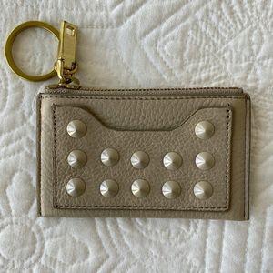 J. Crew Studded Coin Card Keychain Zipper Pouch